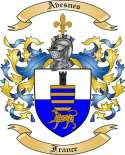 Avesnes Family Crest from France