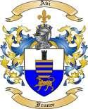 Avi Family Crest from France