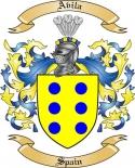 Avila Family Crest from Spain
