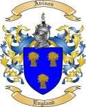 Avison Family Crest from England