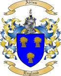 Aviss Family Crest from England