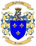 Aydelotte Family Crest from France