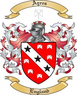 Ayres Family Coat of Arms from England