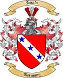 Baade Family Crest from Germany2