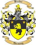 Baader Family Crest from Germany