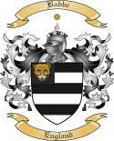 Babbe Family Crest from England