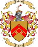 Babcock Family Coat of Arms from England