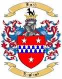 Bach Family Crest from England