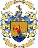 Bachhman Family Coat of Arms from Germany2