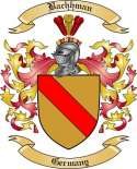 Bachhman Family Crest from Germany