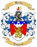 Backe Family Crest from England