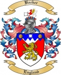Backer Family Crest from England