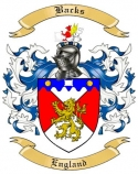 Backs Family Crest from England
