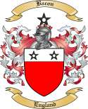 Bacon Family Crest from England