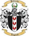 Badcocke Family Crest from England