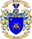 Baddet Family Crest from France
