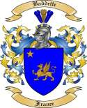 Baddette Family Coat of Arms from France