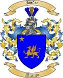Bader Family Crest from France