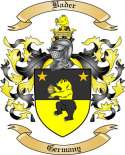 Bader Family Crest from Germany