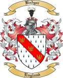 Badger Family Coat of Arms from England