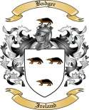 Badger Family Crest from Ireland
