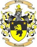 Bading Family Crest from Germany