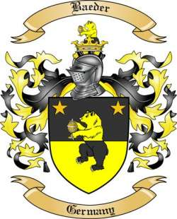 Baeder Family Coat of Arms from Germany