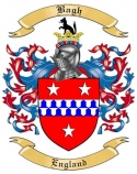 Bagh Family Coat of Arms from England