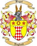 Bagot Family Crest from England