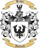 Bahde Family Crest from Holland