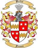 Bailet Family Crest from France