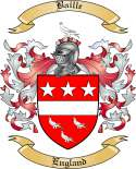 Baille Family Crest from England