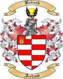 Baireid Family Coat of Arms from Ireland