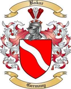 Bakar Family Crest from Germany