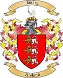 Bakey Family Crest from Ireland