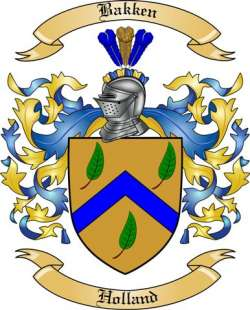 Bakken Family Coat of Arms from Holland