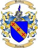Bakken Family Crest from Norway