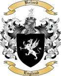 Balard Family Crest from England