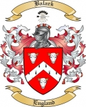 Balark Family Coat of Arms from England