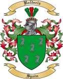 Balderiz Family Crest from Spain