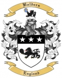 Balders Family Crest from England