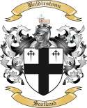 Baldirstoun Family Crest from Scotland
