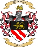 Baldissera Family Crest from Italy