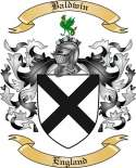 Baldwin Family Crest from England