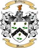 Baldwin Family Crest from Wales