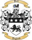Ball Family Crest from England