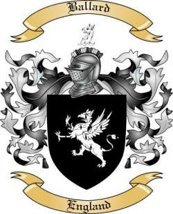 Ballard Family Crest from England by The Tree Maker