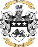 Balle Family Crest from England