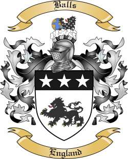Balls Family Crest from England