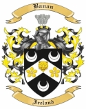 Banan Family Crest from Ireland